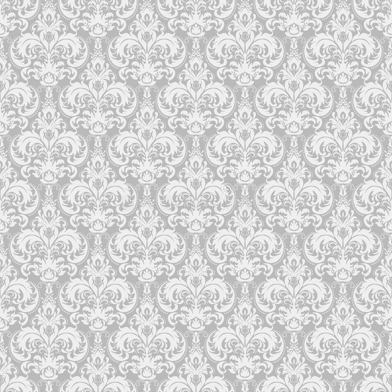 Damask seamless pattern background. Classical luxury old fashioned damask ornament, royal victorian seamless texture. vector illustration