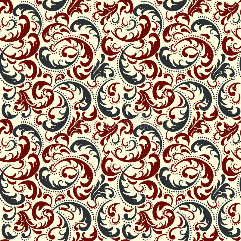 Damask seamless pattern background. Classical luxury old fashioned damask ornament, royal victorian seamless texture. stock illustration
