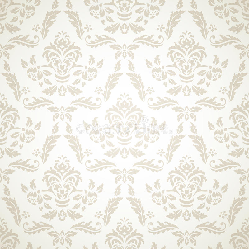 Download Damask Seamless Pattern stock vector. Image of frame - 33045859