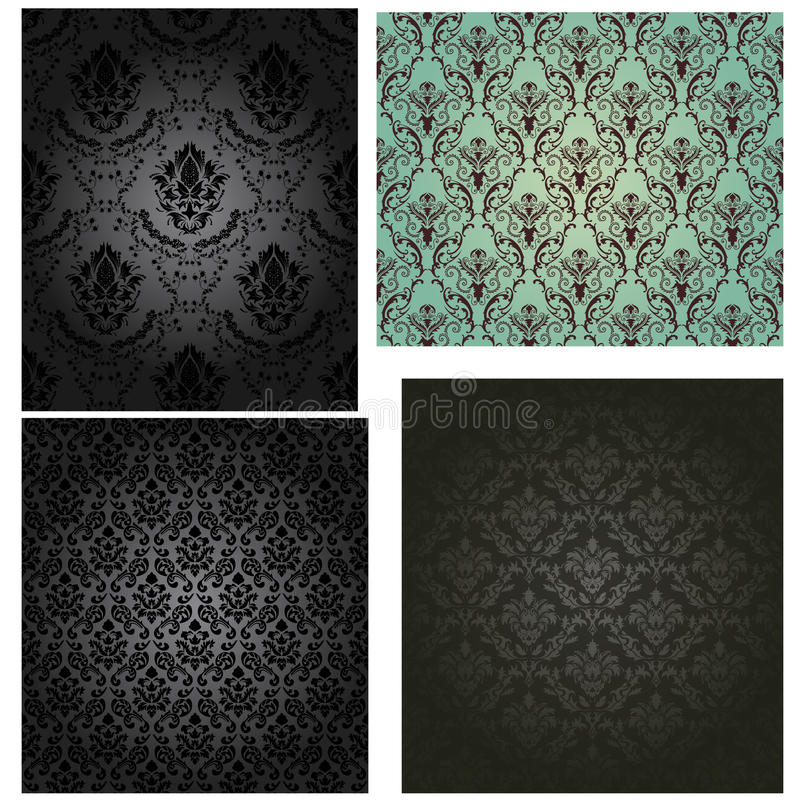 Download Damask Seamless Pattern Set Stock Vector - Illustration of element, graphic: 42939911