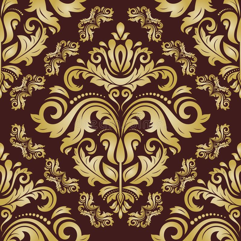 Damask Seamless Vector Pattern royalty free illustration