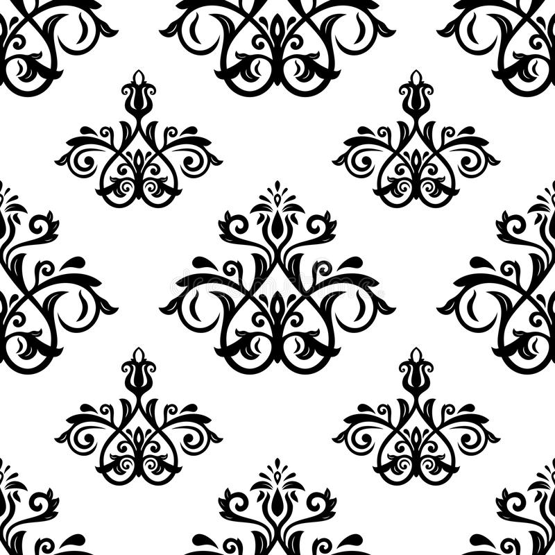 Damascus Pattern. Seamless Vintage Background Stock Vector