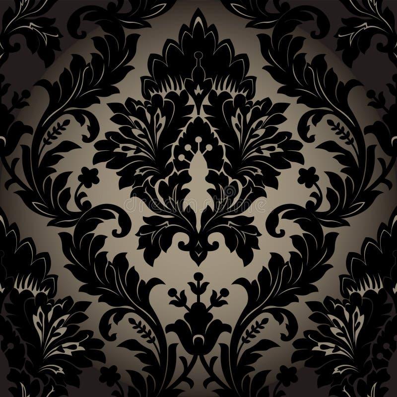Damask seamless wallpaper vector illustration