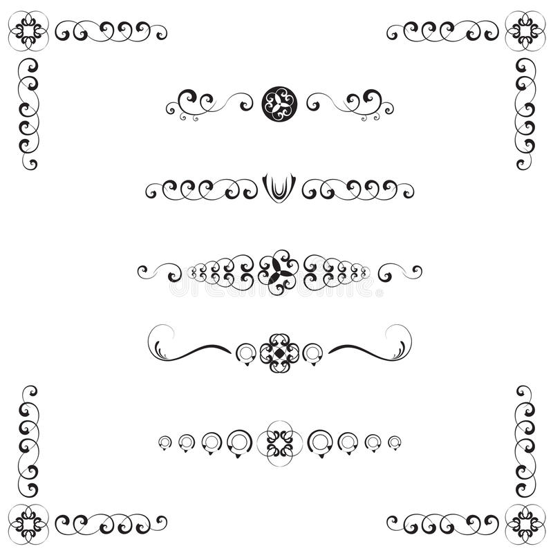 Download Damask Style Text Dividers stock vector. Image of anniversary - 11563033