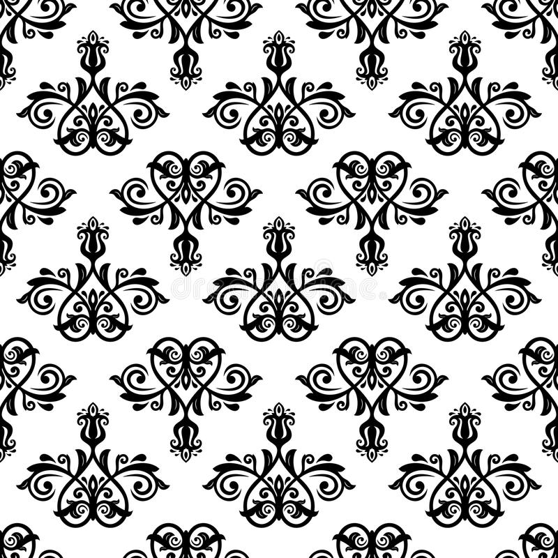 Damask Vector Classic Pattern. Seamless Vintage Ba stock illustration