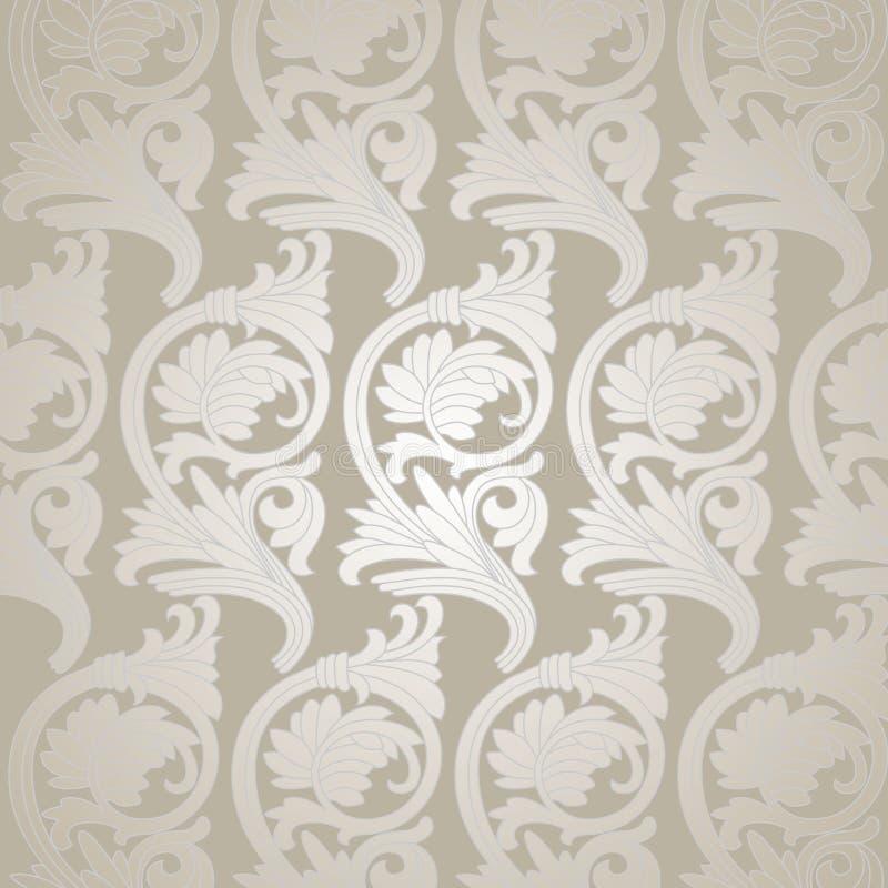 Damask Vintage Floral Seamless Pattern Background. Damask vintage floral seamless pattern background, illustration royalty free illustration