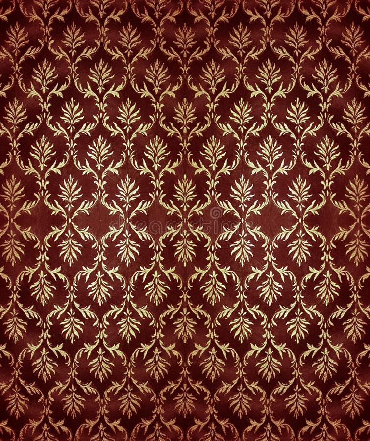 Damask wallpaper. Background, abstract drawing on wallpaper stock image