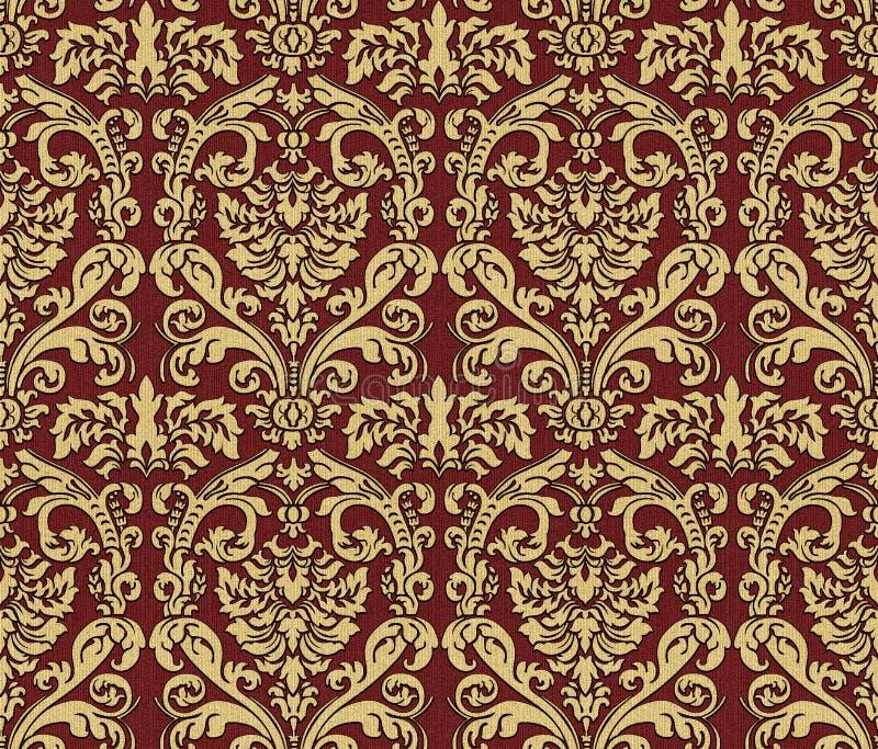 Download Damask wallpaper stock illustration. Illustration of royal - 14198761