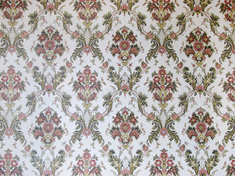Damask wallpaper. With flowery pattern stock photo