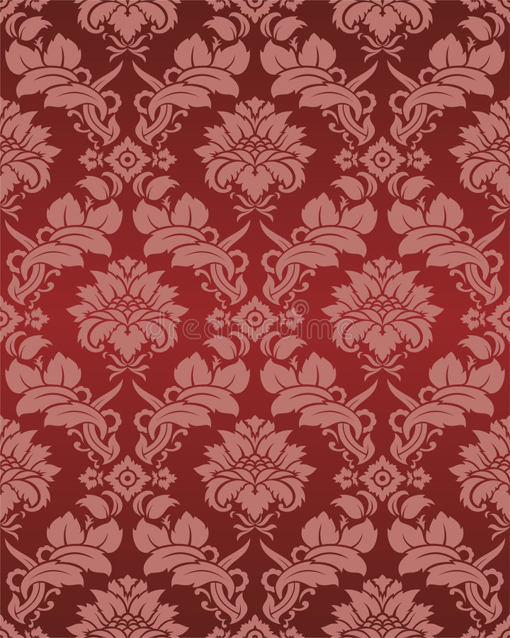 Download Damask wallpaper stock vector. Image of ornament, flower - 6500670