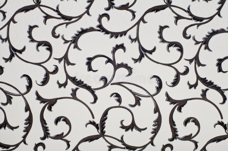 Wallpaper Gry. Black and tan damask wallpaper seamless pattern royalty free stock images