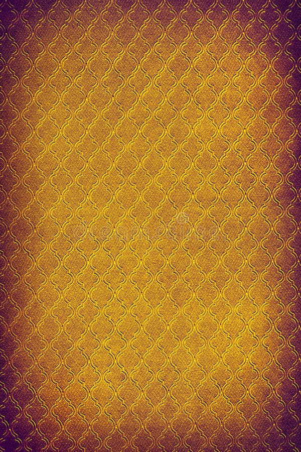 Damask wallpaper. In orange and purple colors stock photo