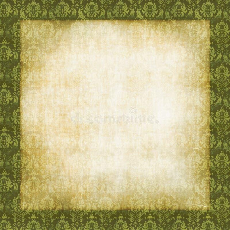 damassé de cadre florale illustration libre de droits