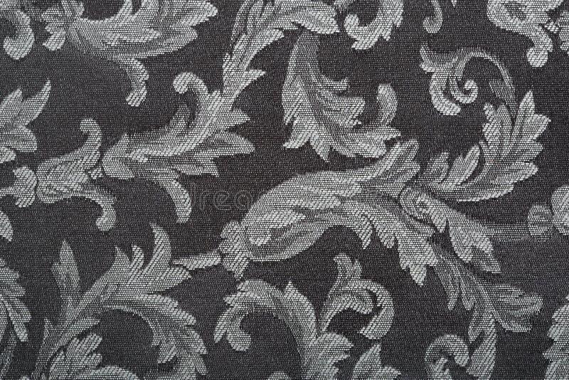Damassé, fond noir de texture photo stock