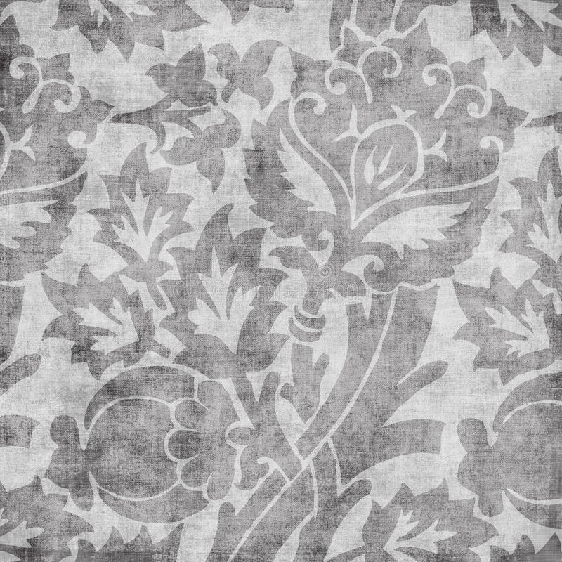 DAMAST-Einklebebuchhintergrund der Grungy Weinlese Blumen vektor abbildung
