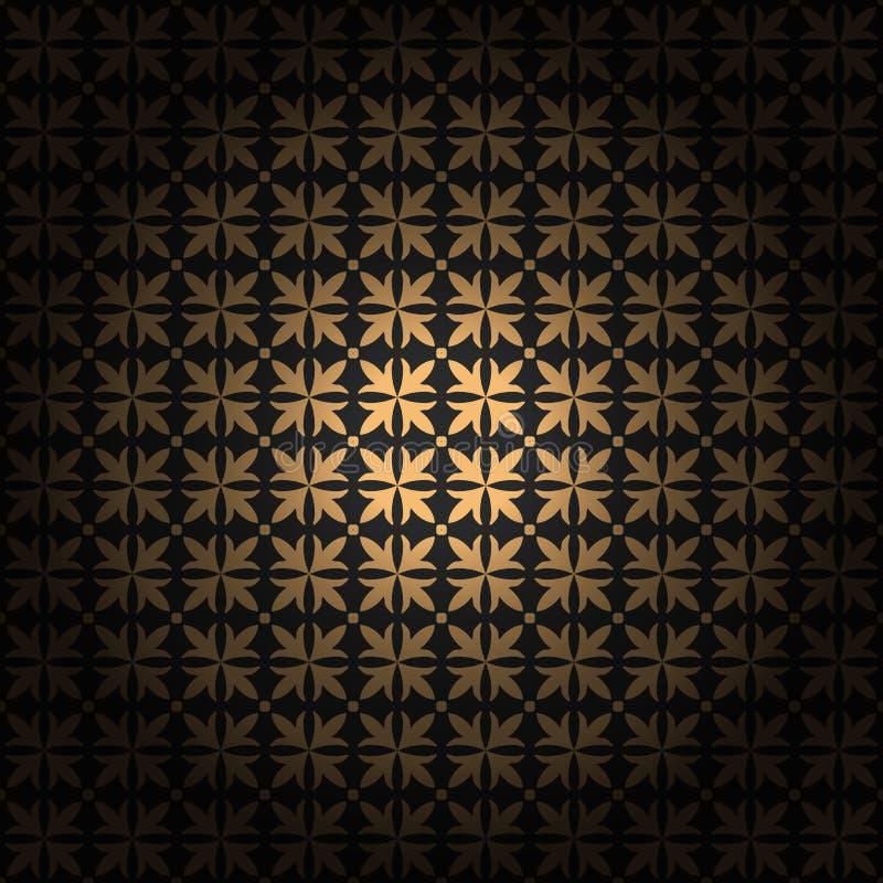 Damast naadloos ornament Fijn vector traditioneel klassiek gouden patroon met gradiëntlaag stock illustratie
