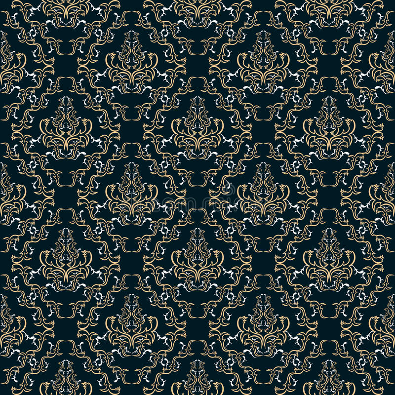 Damast naadloos patroon. royalty-vrije illustratie