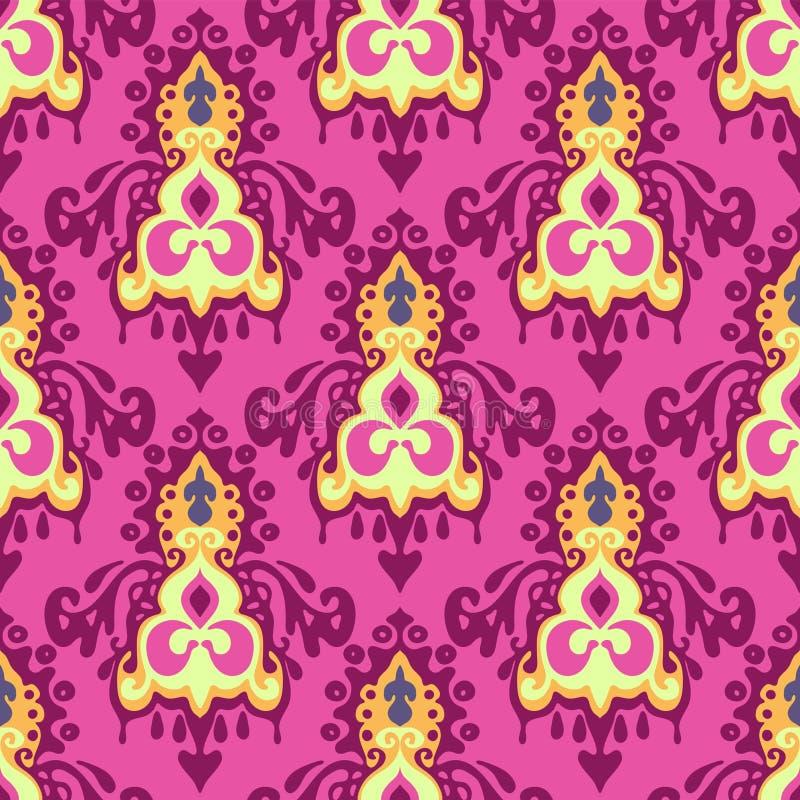Damast naadloos roze   patroon vector illustratie