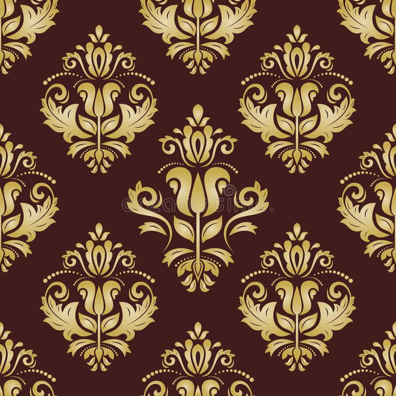 damast nahtloses goldenes muster orient hintergrund stock. Black Bedroom Furniture Sets. Home Design Ideas