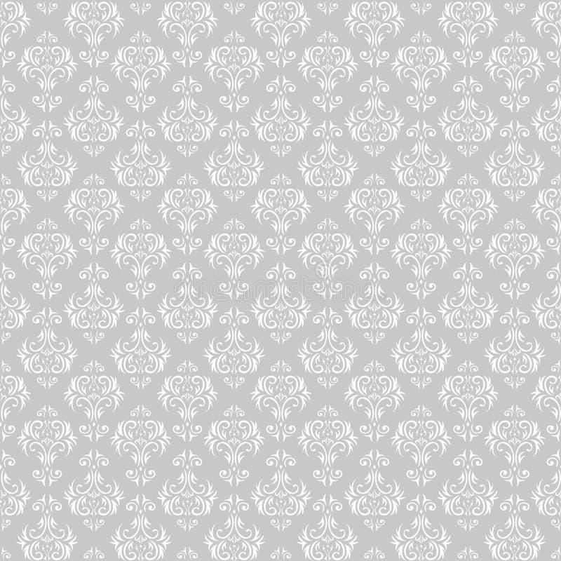 Damast sömlös modell, vektor Tapet prydnad, bakgrund, blom- prydnad vektor illustrationer