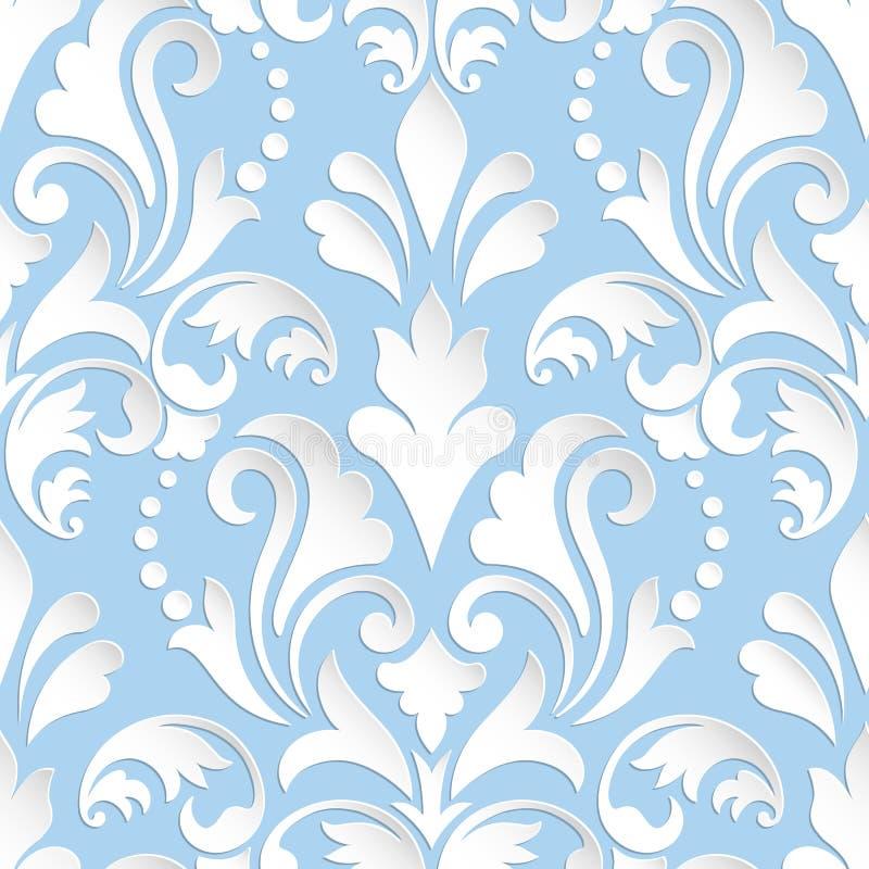 Damast sömlös modellbeståndsdel för vektor Elegant lyxig textur för tapeter, bakgrunder och sidan fyller stock illustrationer