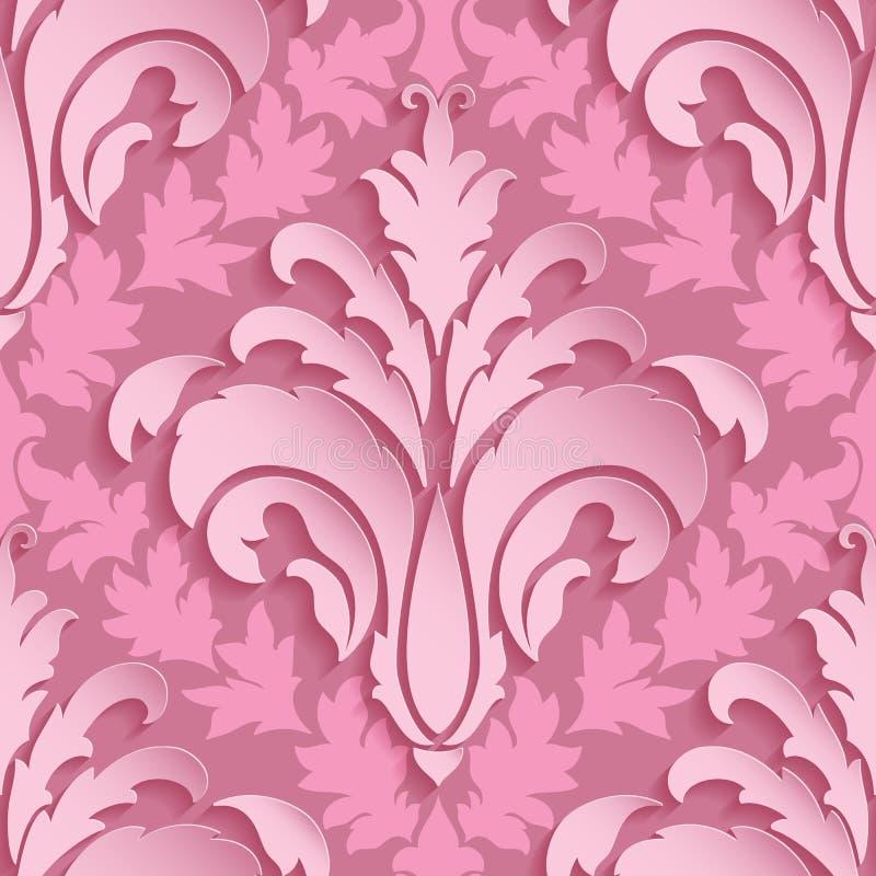Damast sömlös modellbeståndsdel för vektor Elegant lyxig textur för tapeter, bakgrunder och sidan fyller royaltyfri illustrationer