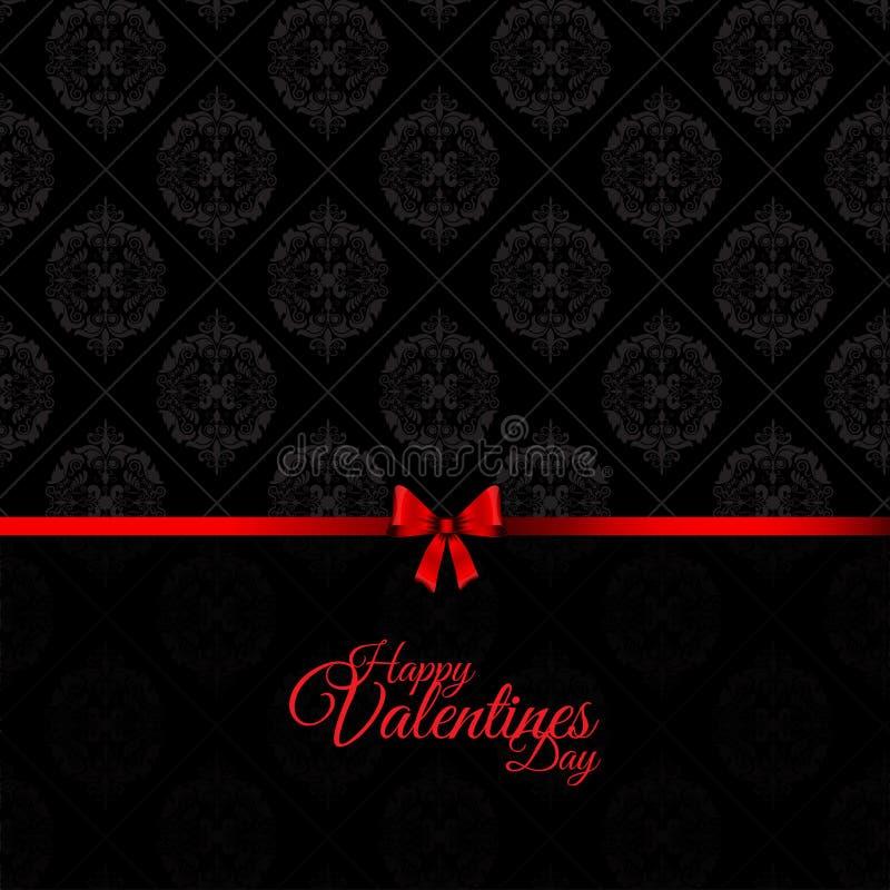 Damast-Valentinsgruß-Tageshintergrund vektor abbildung