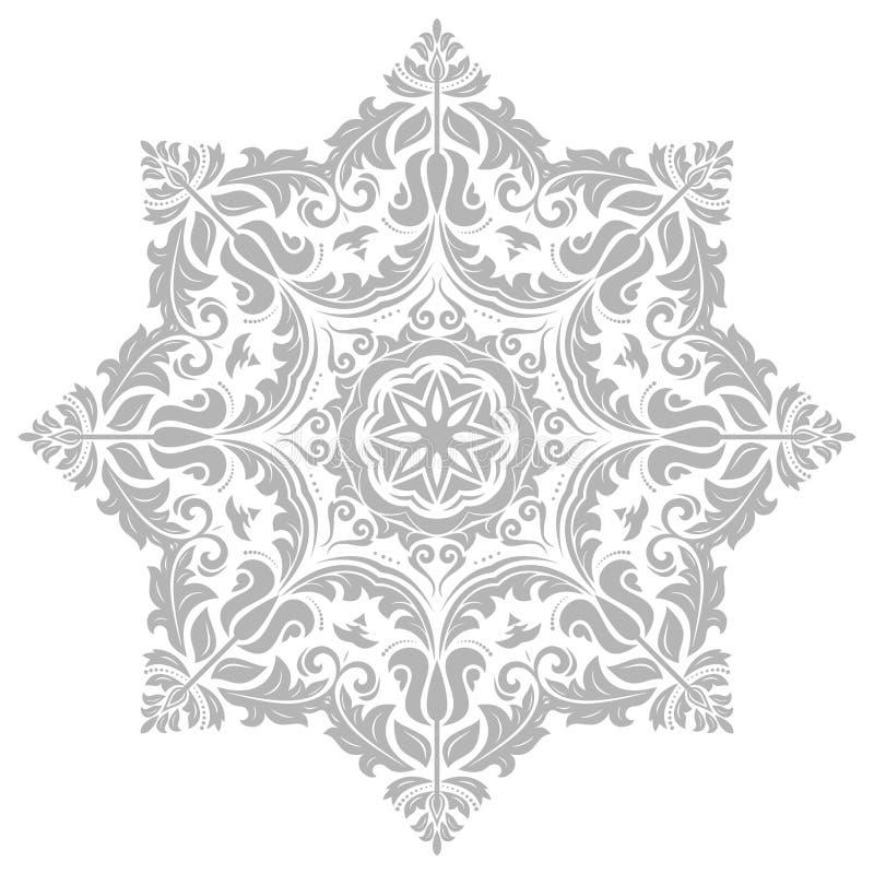 Damast Vector Oosters Patroon stock illustratie