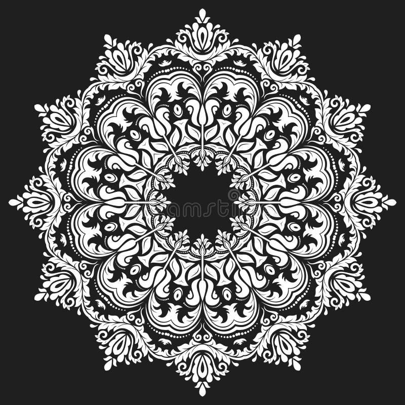 Damast Vector Oosters Patroon royalty-vrije illustratie