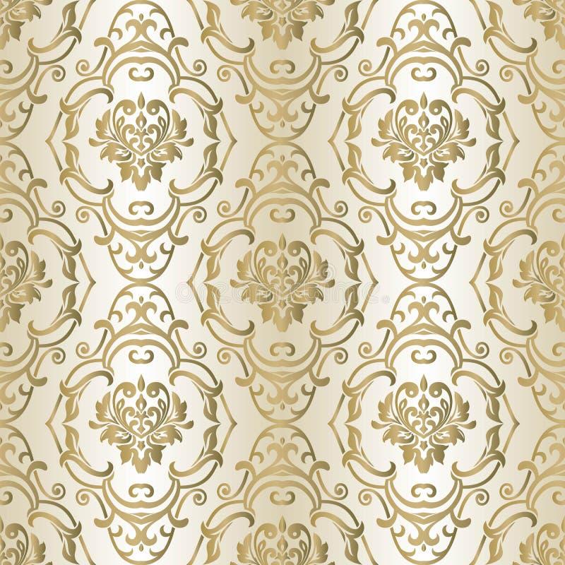 Damast vectorpatroon Naadloze uitstekende behang of achtergrond voor ontwerp vector illustratie