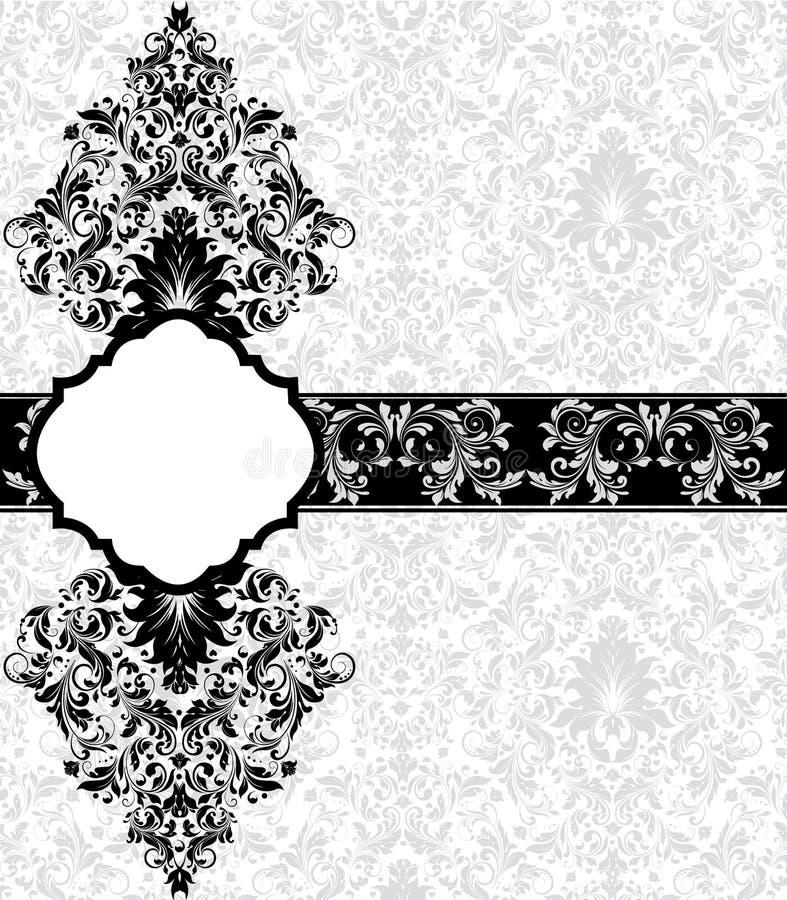 damastast gray för kort royaltyfri illustrationer