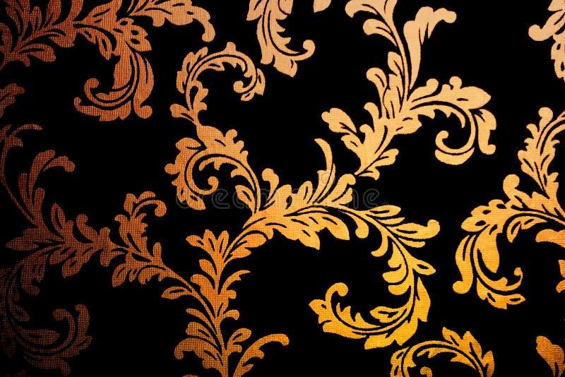 damastast guld- wallpaper stock illustrationer