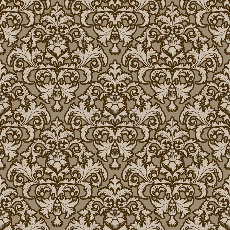 damastast modell royaltyfri illustrationer