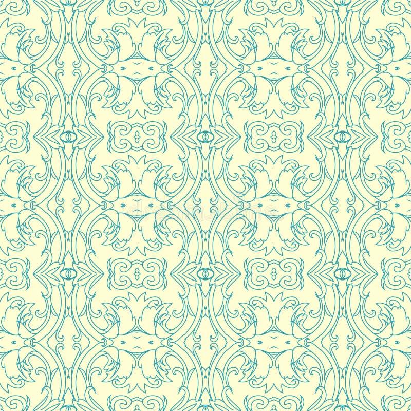 Damastast seamless modellbakgrund för vektor Elegant lyxig textur för tapeter, bakgrunder och sidan fyller royaltyfri illustrationer