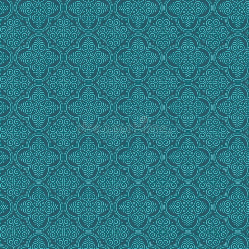 damastast seamless wallpaper stock illustrationer