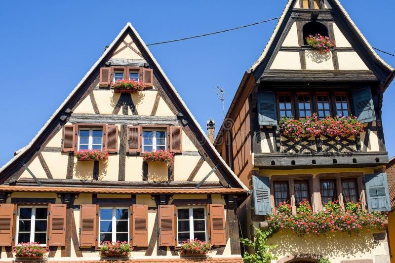 Dambach (de Elzas) - Huizen stock afbeeldingen