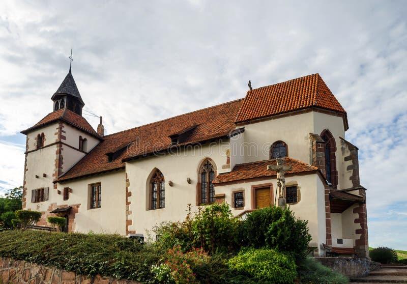Dambach-la-Ville de Chapelle Saint-Sebastien de, Alsacia imagen de archivo