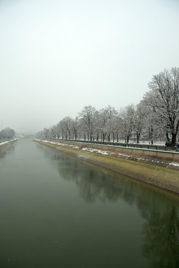 Dambovita flod fotografering för bildbyråer