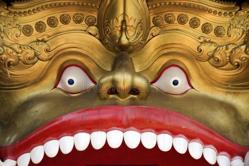Dambula golden temple in Sri lanka — great buddhistic landmark royalty free stock images
