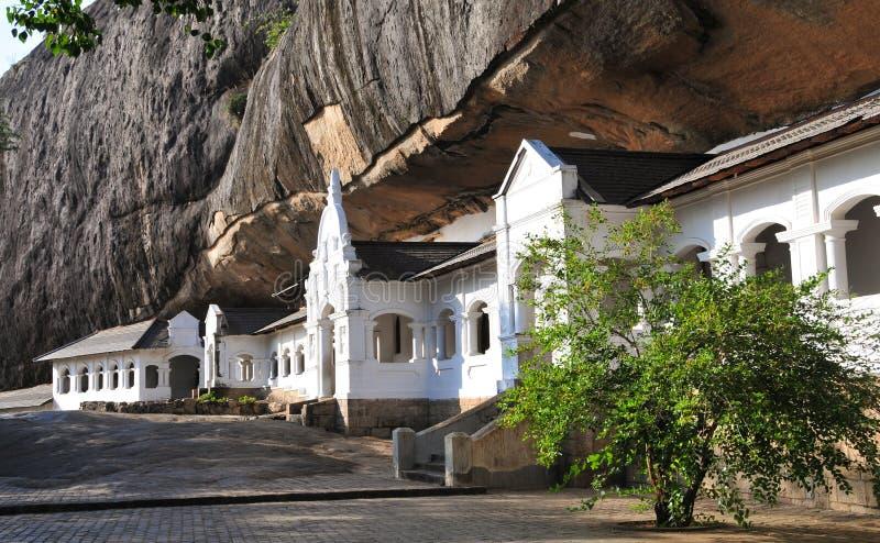 Dambulla grottatempel i Sri Lanka royaltyfri fotografi