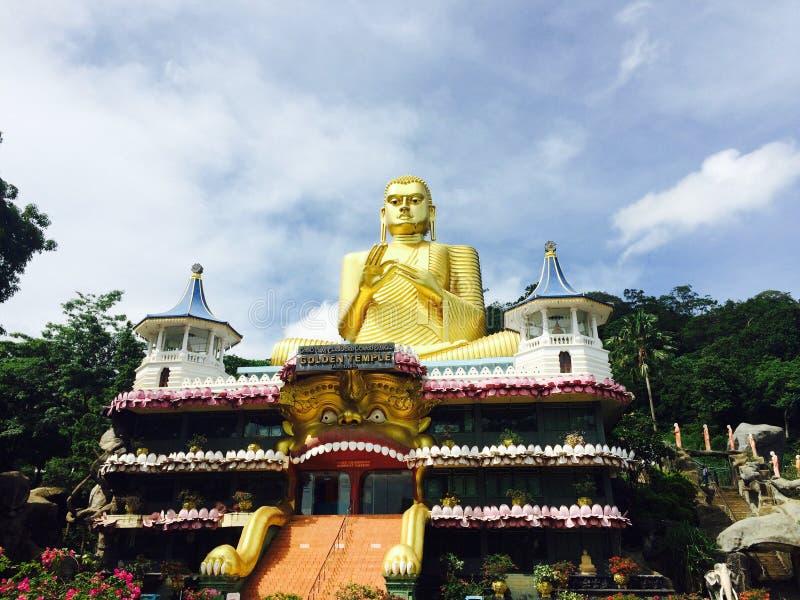 Dambulla guld- tempel i Sri Lanka arkivfoton