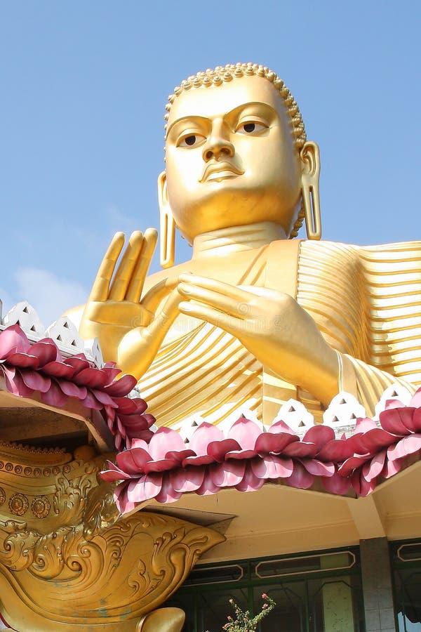 Dambulla guld- tempel Sri Lanka royaltyfri foto