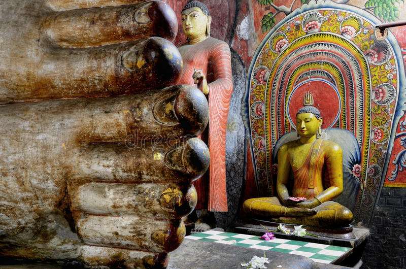 Dambulla, Sri Lanka, Asia. Dambulla, UNESCO World Heritage Site, Central Province, Sri Lanka, Asia stock photo