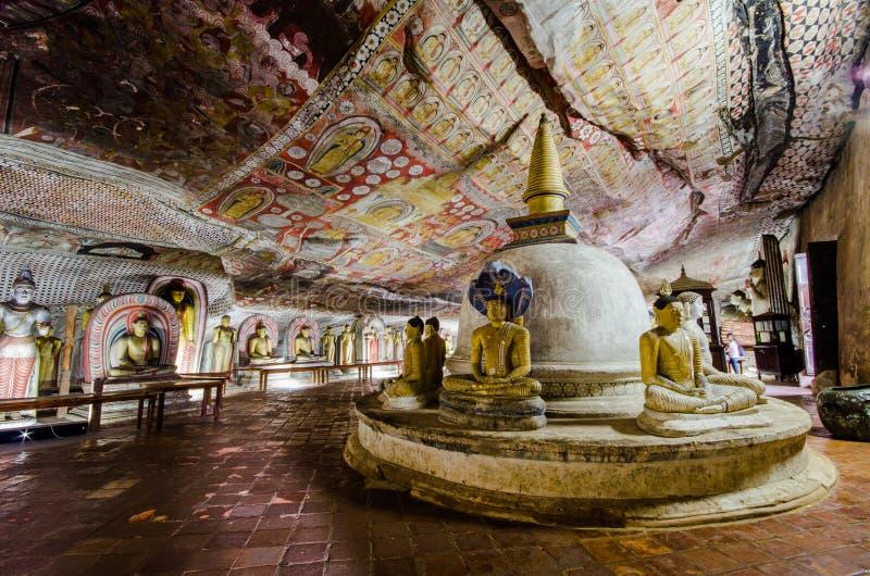 Dambulla Sri Lanka, Asien arkivbild