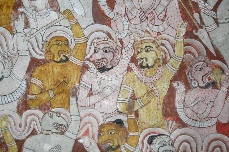 Dambulla tempel royaltyfri foto