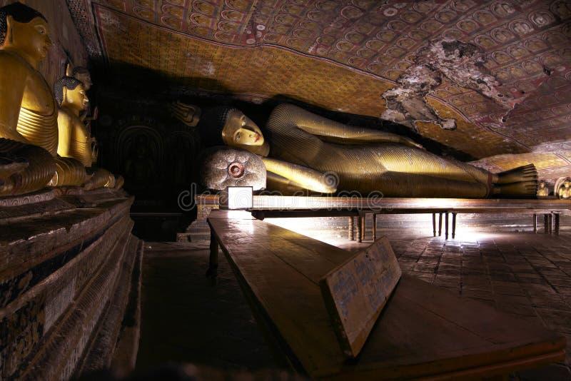 Dambulla - tempiale della caverna - la Sri Lanka fotografia stock