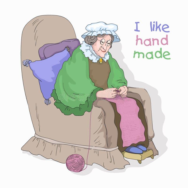 Dame âgée illustration stock