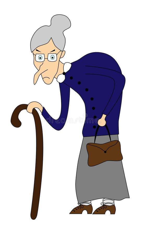 Dame âgée illustration libre de droits