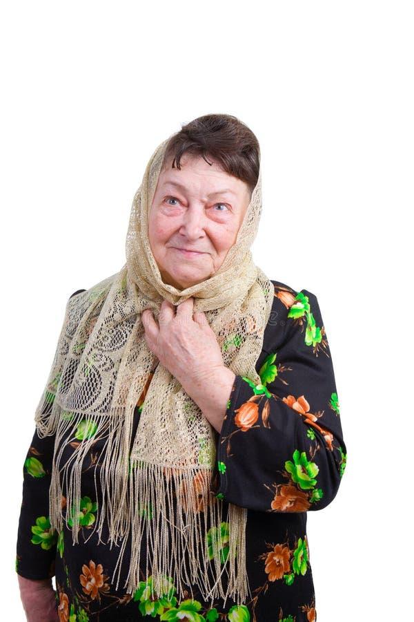 dame âgée de foulard photos stock