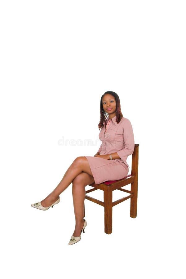 Dame africaine sur la présidence image stock